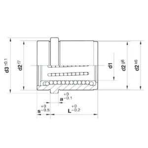 Desenho técnico bucha bolexp B802